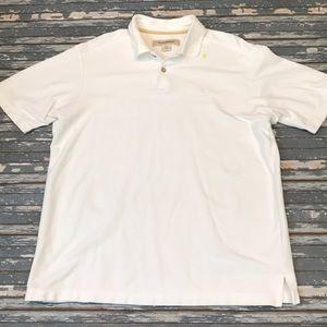 🔥 Tommy Bahama men's M white polo shirt EUC